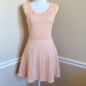Forever 21 Peach Crochet Lace Dress